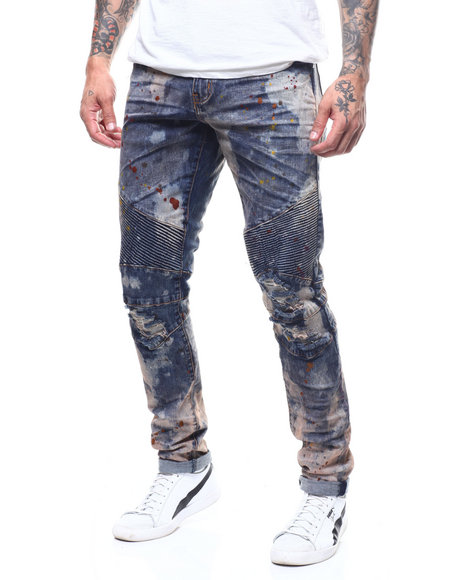 Crysp - Skywalker Ombre Bleached Moto Jean