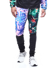 Mens-Winter - MIXED FLORAL TRACK PANT-2308050