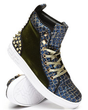 AURELIO GARCIA - High Top Velvet Glitter Sneakers-2307976