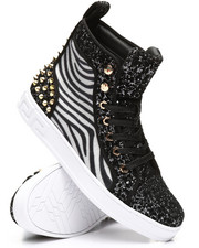 AURELIO GARCIA - High Top Zebra Glitter Sneakers-2307969
