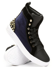 AURELIO GARCIA - High Top Velvet Studded Sneakers-2307948