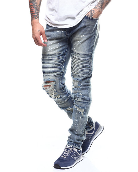 Crysp - Giotto Distressed Jean w Zip ankle Detail