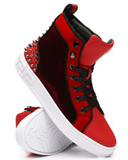 AURELIO GARCIA - High Top Velvet Studded Sneakers-2307962