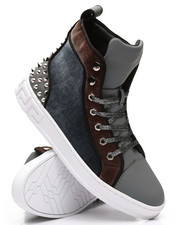 AURELIO GARCIA - High Top Velvet Studded Sneakers-2307955