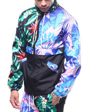 Mens-Winter - MIXED FLORAL PATTERN ANORAK-2308024