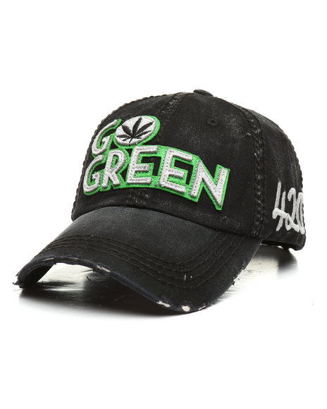 Buyers Picks - Vintage Go Green Leaf Dad Hat