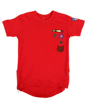 Boys - Elongated Tail Tee W/ Zippers And Badges (4-7)-2308377