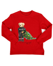 Boys - Long Sleeve Jersey Bear Tee (4-7)-2308232