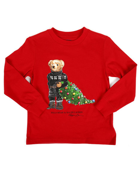 Polo Ralph Lauren - Long Sleeve Jersey Bear Tee (4-7)