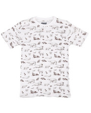 Boys - All Over Animal Print Jersey Tee (8-20)-2308318