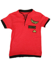 Boys - HTH Military Henley W/ Raw Edge Double Layer (4-7)-2308284