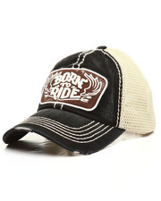 Dad Hats - Born To Ride Mesh Back Dad Hat-2308326