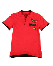 Boys - HTH Military Henley W/ Raw Edge Double Layer (8-20)-2308445
