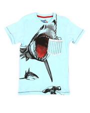 Boys - Shark Cage Print Tee (8-20)-2308451