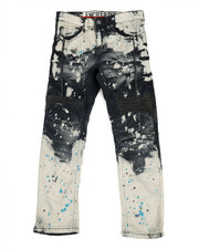 Bottoms - Paint Splatter Moto Jeans (8-20)-2308470