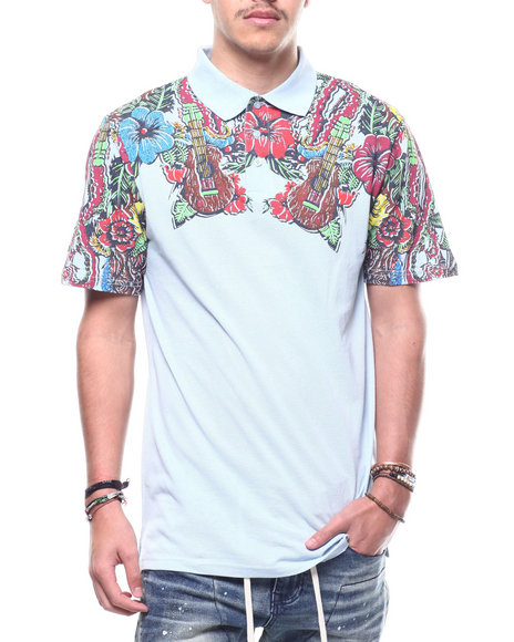 Buyers Picks - Hibiscus Floral Pique Polo