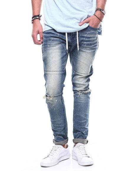 SMOKE RISE - Drawstring Slim Tapered Jean