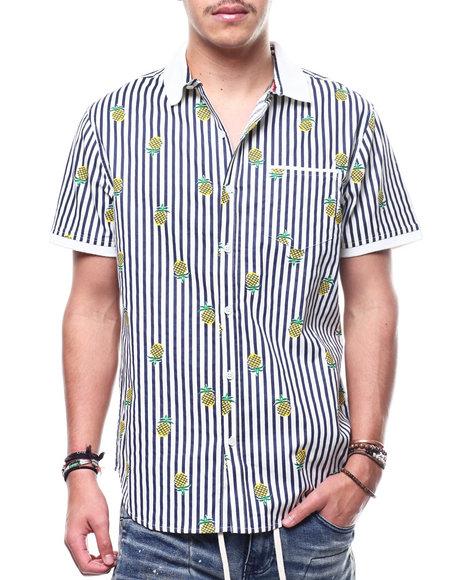 Buyers Picks - Pineapple Knit Collar Button Down Shirt