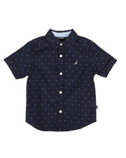 Boys - Stretch Allover Print Shirt (4-7)-2308518