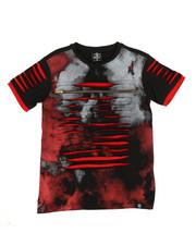 Boys - Tie Dye Print Razor Slashed Tee w/ Zipper (8-20)-2308794
