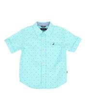 Boys - Stretch Allover Print Shirt (4-7)-2308562