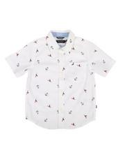Boys - Stretch Allover Anchor Print Shirt (4-7)-2308586