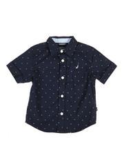Nautica - Stretch Allover Print Shirt (2T-4T)-2308528