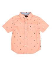 Boys - Stretch Allover Anchor Print Shirt (2T-4T)-2308591