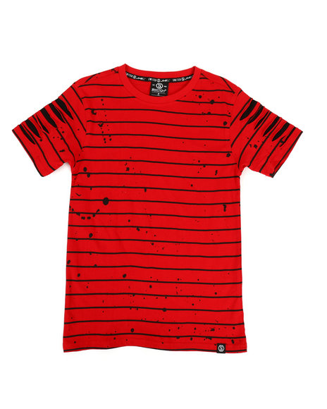 SWITCH - Basic Striped Tee w/ Razor Slash Sleeves (8-20)