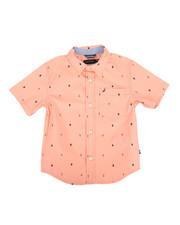 Boys - Stretch Anchor Print Shirt (4-7)-2308532