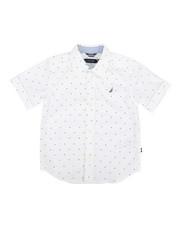 Boys - Stretch Allover Print Shirt (4-7)-2308604