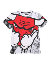 Arcade Styles - Oversized Drip Bully Marble Print Tee (8-20)-2308688