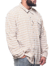 Wrangler - Plaid L/S Material Shirt (B&T)-2309383