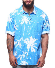 Button-downs - Palm Tree Print Woven Shirts (B&T)-2307928