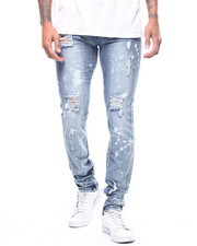 Slim - 10 year rinse distressed jean w zip ankle detail-2309300