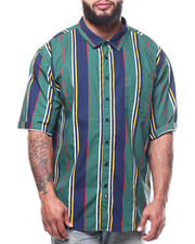 Big & Tall Faves - Striped Woven Shirts (B&T)-2308237
