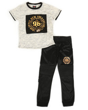 Enyce - Graphic Tee & Jogger Pants Set (8-20)-2308554