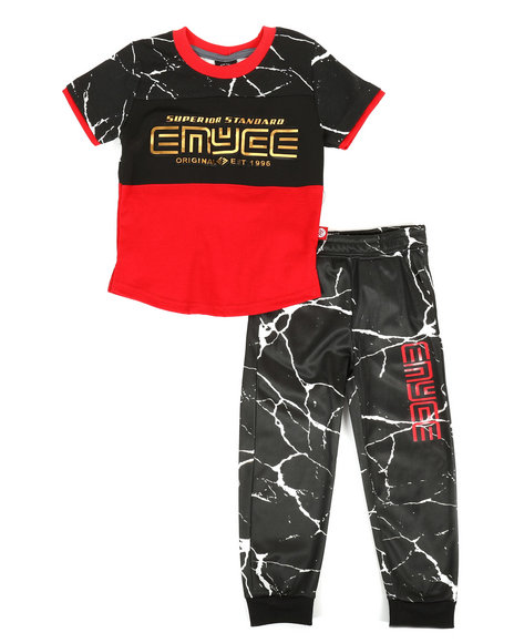 Enyce - Graphic Tee & Jogger Pants Set (2T-4T)