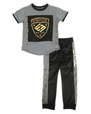 Enyce - Graphic Tee & Jogger Pants Set (4-7)-2308558