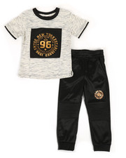 Enyce - Graphic Tee & Jogger Pants Set (2T-4T)-2308498