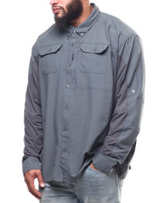 Big & Tall - Solid L/S Material Shirt (B&T)-2309325
