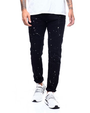 Slim - Moto Twill Pant w Splatter Paint-2309386