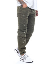 Slim - Moto Twill Pant w Splatter Paint-2309351