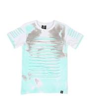 SWITCH - Tie Dye Print Razor Slashed Tee w/ Zipper (8-20)-2309206