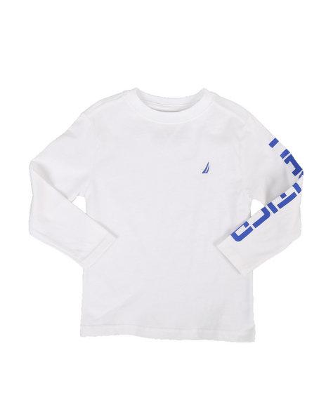 Nautica - Solid Long Sleeve T-Shirt (4-7)