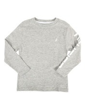 Boys - Solid Long Sleeve T-Shirt (4-7)-2309187
