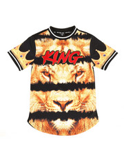 Sizes 8-20 - Big Kids - Sublimation Printed Tee w/ Chenille Patch (8-20)-2309201