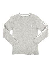 Nautica - Solid Long Sleeve T-Shirt (8-20)-2309006
