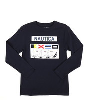 Nautica - Long Sleeve Graphic Tee (8-20)-2309051
