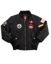 Arcade Styles - Flight Jacket With Patches (8-20)-2099610